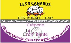 LES 3 CANARDS – RESTAURANT ARVERT : cuisine traditionnelle authentique et créative
